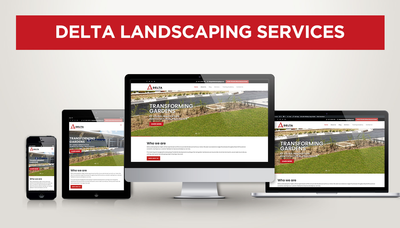 The Updated Delta Landscaping Services Website goes live
